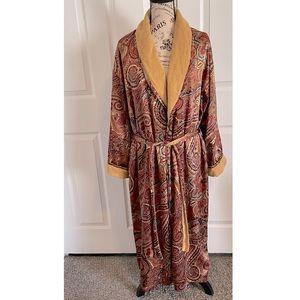 Victoria's Secret Vintage Terry Cloth Satin Robe S